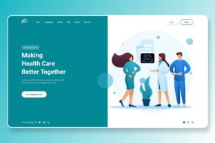 Print on Demand: Health Care Better Together  Header Part Graphic Landing Page Templates By themesfusion