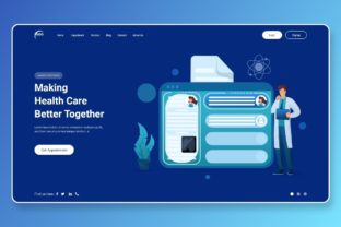 Print on Demand: Health Care Better Together Landing Page Graphic Landing Page Templates By themesfusion