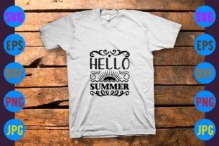 Hello Summer Graphic Print Templates By craftSVG
