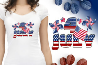 Print on Demand: July 4 Sublimation Quote. American Flag Graphic Illustrations By LerVik