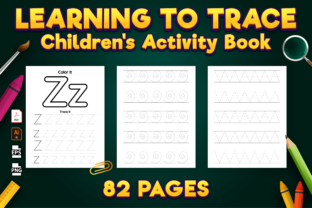 Print on Demand: Learning to Trace: Pre-Writing Workbook Graphic KDP Interiors By Kristy Coloring 3