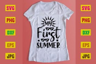 Print on Demand: My First Summer Graphic Print Templates By printSVG
