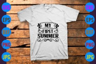 My First Summer Graphic Print Templates By craftSVG