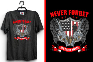 Print on Demand: Never Forget Our Veteran T-Shirt Design Graphic Print Templates By emranplanner