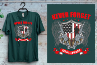 Never Forget Our Veteran T-Shirt Design Graphic Print Templates By emranplanner 2