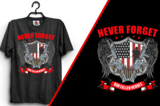 Never Forget Our Veteran T-Shirt Design Graphic Print Templates By emranplanner 3