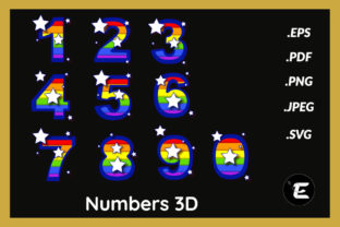 Print on Demand: Numbers 3D Graphic 3D Shapes By grafikestelle