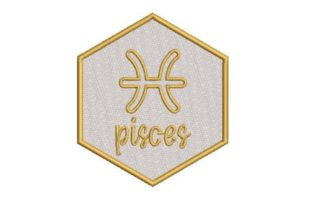 Pisces Zodiac Sign Religion & Faith Embroidery Design By Embroidery Designs
