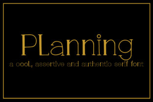 Print on Demand: Planning Serif Font By ngefont