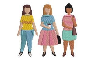Plussize Women Awareness Embroidery Design By Embroidery Designs