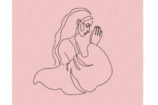 Praying Woman Work, Religion & School Embroidery Design By Canada Crafts Studio