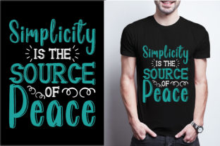 Simplicity is the Source of Peace Graphic Print Templates By craftbundle