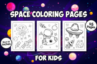 Space Coloring Book for Kids Graphic Coloring Pages & Books Kids By Kids_Zone