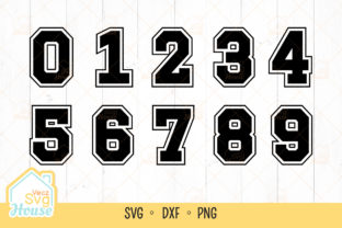 Sports Jersey Font Numbers Svg Graphic Crafts By VeczSvgHouse
