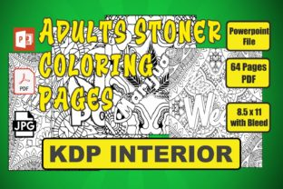 Stoner Coloring Book for Adults Graphic Coloring Pages & Books By Image Design