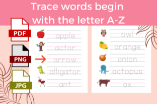 Print on Demand: Trace Words Begin with the Letter Graphic PreK By Nupool Katsora