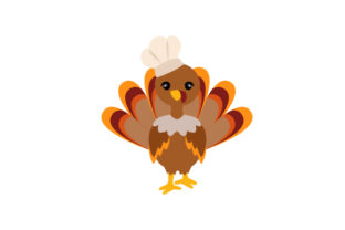 Turkey Dressed As Chef Thanksgiving Craft Cut File By Creative Fabrica Crafts