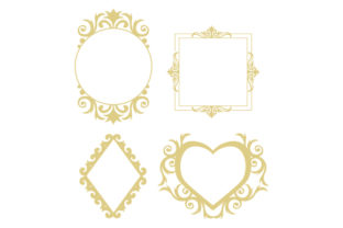 Gold Frames Designs & Drawings Craft Cut File By Creative Fabrica Crafts