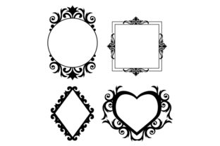 Gold Frames Designs & Drawings Craft Cut File By Creative Fabrica Crafts 2
