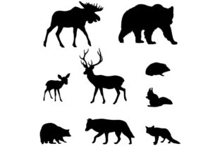 Woodland Animal Silhouettes Animals Craft Cut File By Creative Fabrica Crafts