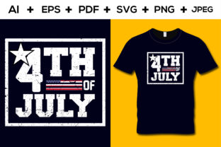 4th July T-shirt Design Graphic Print Templates By aroy00225