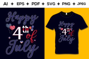 4th July T-shirt Design Template Graphic Print Templates By aroy00225