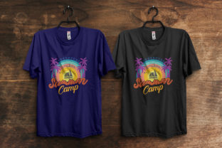 Print on Demand: Adventure Summer Camp T-Shirt Design Graphic Print Templates By ivect