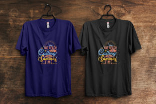 Print on Demand: Beach Calling Summer Time T-Shirt Design Graphic Print Templates By ivect