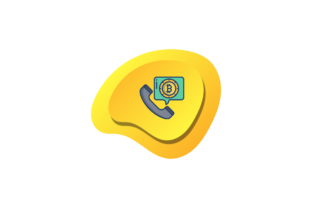 Bitcoin Icon Call Yellow Background Flat Graphic Icons By liquidiestudio