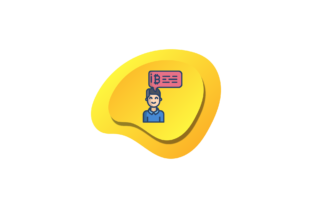Bitcoin Icon Chat Money Yellow Flat Cute Graphic Icons By liquidiestudio