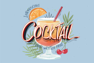 Print on Demand: Cocktail Script & Handwritten Font By Nobu Collections