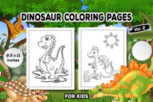 Dinosaur Coloring Pages for Kids (V. 02) Graphic Coloring Pages & Books Kids By KDP Booktopia