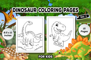 Dinosaur Coloring Pages for Kids (V.01) Graphic Coloring Pages & Books Kids By KDP Booktopia
