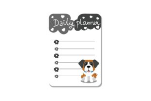 Dog Journal Planner Graphic Illustrations By Fauzia Studio