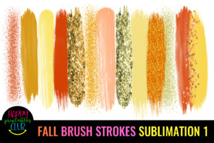 Fall Brush Strokes Sublimation-Brush Graphic Crafts By Happy Printables Club