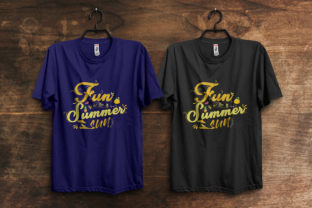 Print on Demand: Fun in the Summer Sun T-Shirt Design Graphic Print Templates By ivect