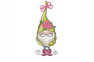 Gnome Valentine's Day Embroidery Design By NinoEmbroidery