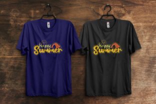Print on Demand: Happy Summer T-Shirt Design Graphic Print Templates By ivect