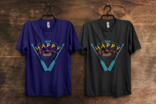 Print on Demand: Happy Summer T-Shirt Design Template Graphic Print Templates By ivect