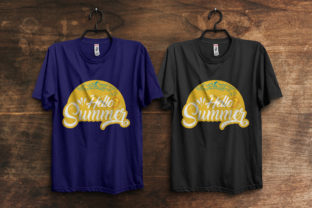 Print on Demand: Hello Summer T-Shirt Design Template Graphic Print Templates By ivect