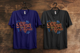 Print on Demand: Hello Summer We Meet Again Tee Design Graphic Print Templates By ivect