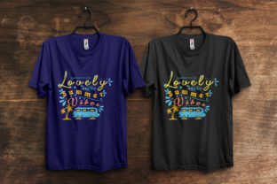 Print on Demand: Lovely Summer  Typography T-Shirt Design Graphic Print Templates By ivect
