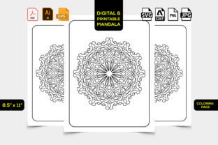 Print on Demand: Mandala Coloring Page Adults for Print Graphic Coloring Pages & Books Adults By TeamlancerBD