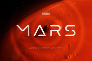 Print on Demand: Mars Display Font By artyway