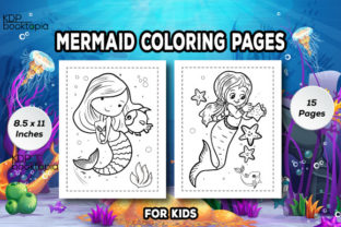 Mermaid Coloring Pages for Kids I KDP Graphic Coloring Pages & Books Kids By KDP Booktopia