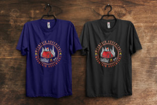 Print on Demand: Mountain Adventure Summer T-Shirt Design Graphic Print Templates By ivect