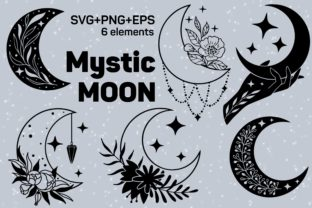 Print on Demand: Mystic Moon, Ia Magic Set in Svg Graphic Crafts By SassyDesign