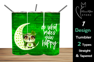 OWL 20oz Skinny Tumbler Sublimation Graphic Graphic Templates By Ranotopia Store