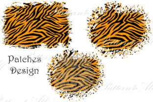 PNG Distressed Tiger Patches Sublimation Graphic Illustrations By Art Studio