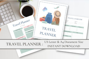 Print on Demand: Printable Travel Planner Graphic Print Templates By Ayesha Design